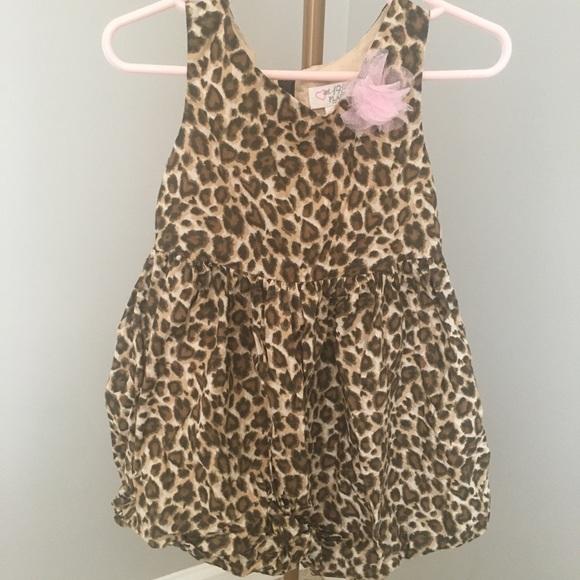 Adorable Cheetah Print Dress. 3T.